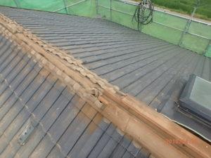 既存の棟、太陽光パネル撤去した屋根