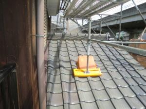 既存の瓦を撤去する前の屋根