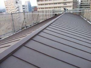 完工した屋根の様子