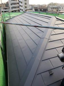 完成した屋根