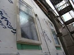 窓枠に防水テープ