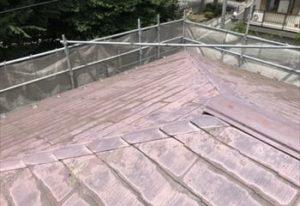色あせた既存の屋根