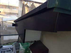 破風板の部分