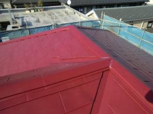 ガルバリウム鋼板張った屋根