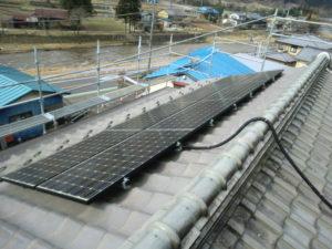 着工時の瓦屋根