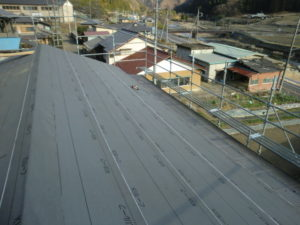 下葺き後の屋根