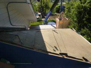 桟木を撤去後の屋根