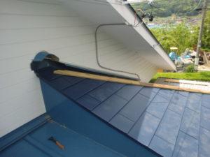 ガルバリウム鋼板に葺き替えした後の屋根
