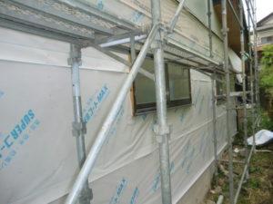 浸透防水シート張った壁