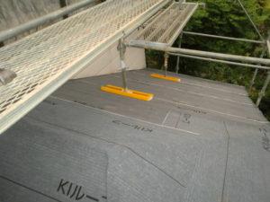 下葺き新設後の下屋根