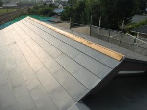 棟の部分の貫板の設置