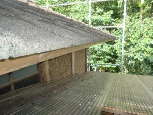 ガルバリウム鋼板に葺き替える前の写真
