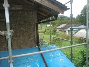 雨樋の交換をした後を違う角度から見た写真