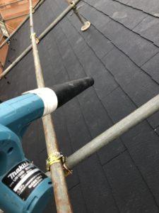 掃除をおこなった屋根