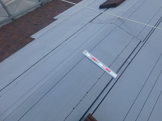 ルーフィング張り終えた屋根