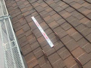 雪止め取り付け後の屋根