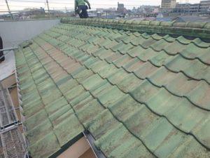 着工時の既存瓦屋根