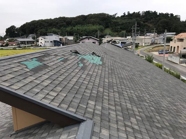 剝がれてしまった屋根