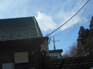 下から見た屋根