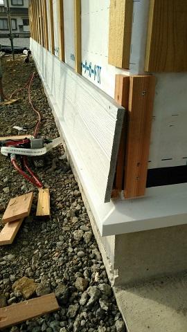 ラップサイディングを使って外壁の張り付け