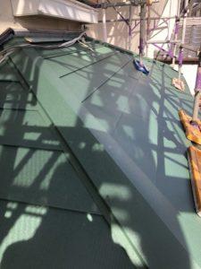 完工後の下屋根