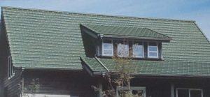 グリーン色の屋根