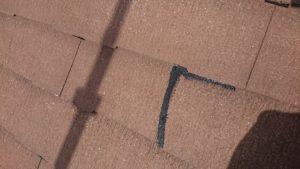 下地調整した屋根材