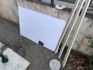 撤去したアクリル板