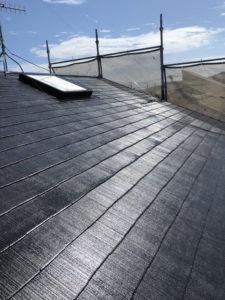 スレート屋根塗装完工