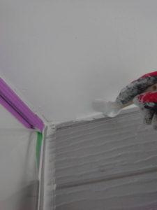 軒天井刷毛塗り