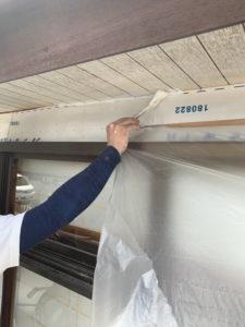 軒天井刷毛引き