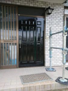 玄関ドア塗装完成
