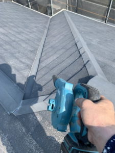 屋根ブロア清掃