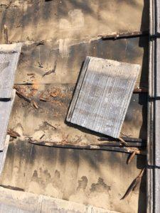スレート 桟木 劣化