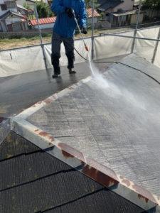 スレート屋根 高圧洗浄