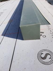屋根 カバー工法工事 屋根材加工