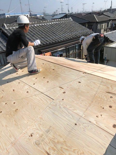 屋根 葺き替え 野地板
