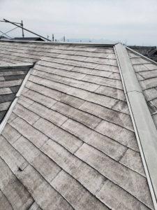 施工前スレート屋根状況