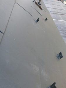 屋根カバー工法工事 雪止め設置