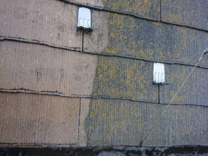 屋根外壁塗装 高圧洗浄 屋根 前後