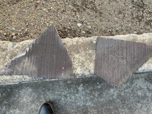 屋根と外壁のリフォーム 現地調査 屋根 化粧スレート 割れ