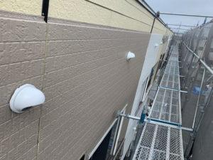 外壁カバー工法 施工中