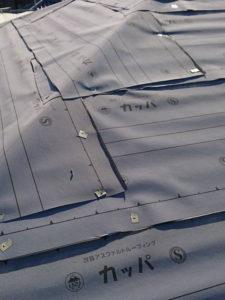 屋根カバー工法工事 ルーフィング