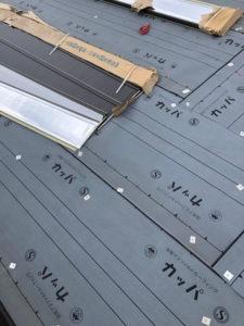 リフォーム カバー工法工事 屋根 防水シート施工