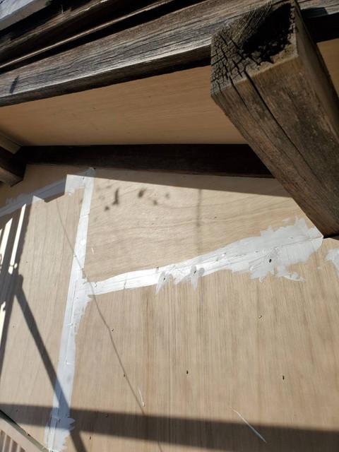漆喰壁上張り20200907