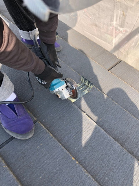 屋根 リフォーム 屋根カバー工法 雪止め金具撤去