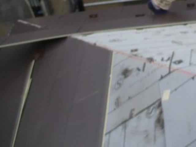 カバー工法工事 屋根材施工