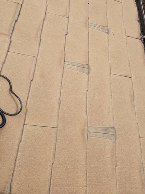 屋根 カバー工法工事 雪止め金具撤去