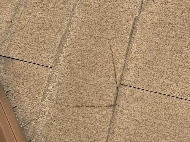 屋根リフォーム 現地調査 化粧スレート 劣化 ヒビ