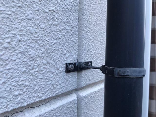 現地調査 雨樋 劣化 外壁 ヒビ